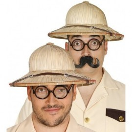 Sombrero explorador salacot paja