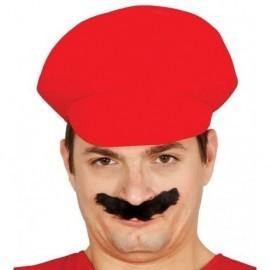 Gorra fontanero roja similar a la de mario bros