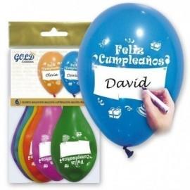 Globo feliz cumpleaños 12 30 cm personalizable