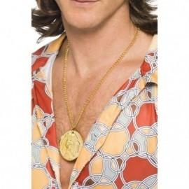 Medallon de oro moneda millonario jeque cantante