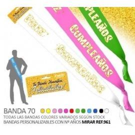 Banda feliz cumpleaños 70 mm colores surtidos