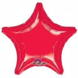 Globo estrella roja 32 jumbo gigante helio foil