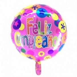 Globo feliz cumpleaños 46 cm 18 rosa